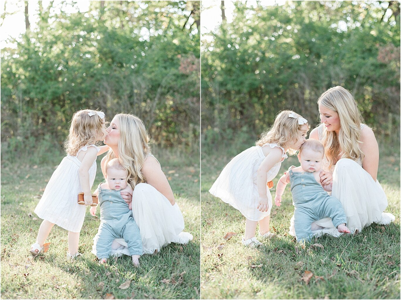 Mom and her two kids being really sweet together. Photos by Lindsay Konopa Photography.