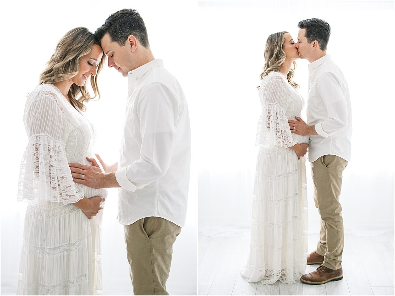 Studio maternity session in Fishers IN with Lindsay Konopa Photography