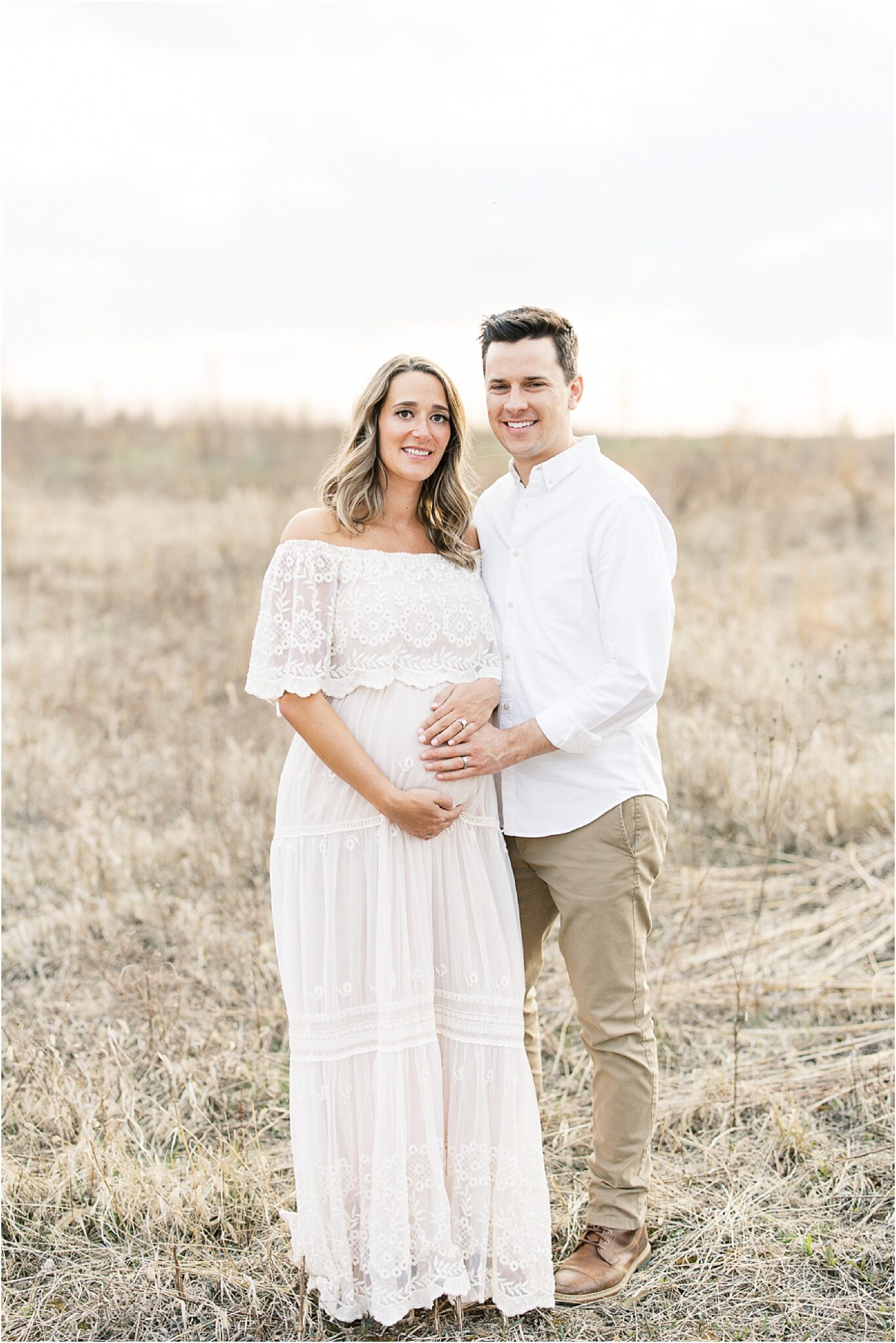 Maternity session in open field in Broad Ripple Indiana. Photo by Lindsay Konopa Photography.