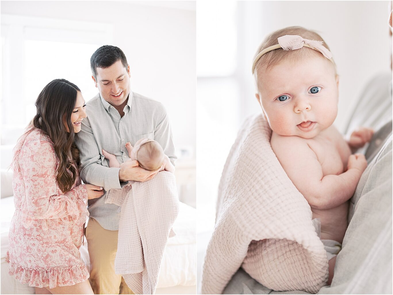 Lifestyle newborn photoshoot with Lindsay Konopa Photography in beautiful, bright home in Indianapolis.
