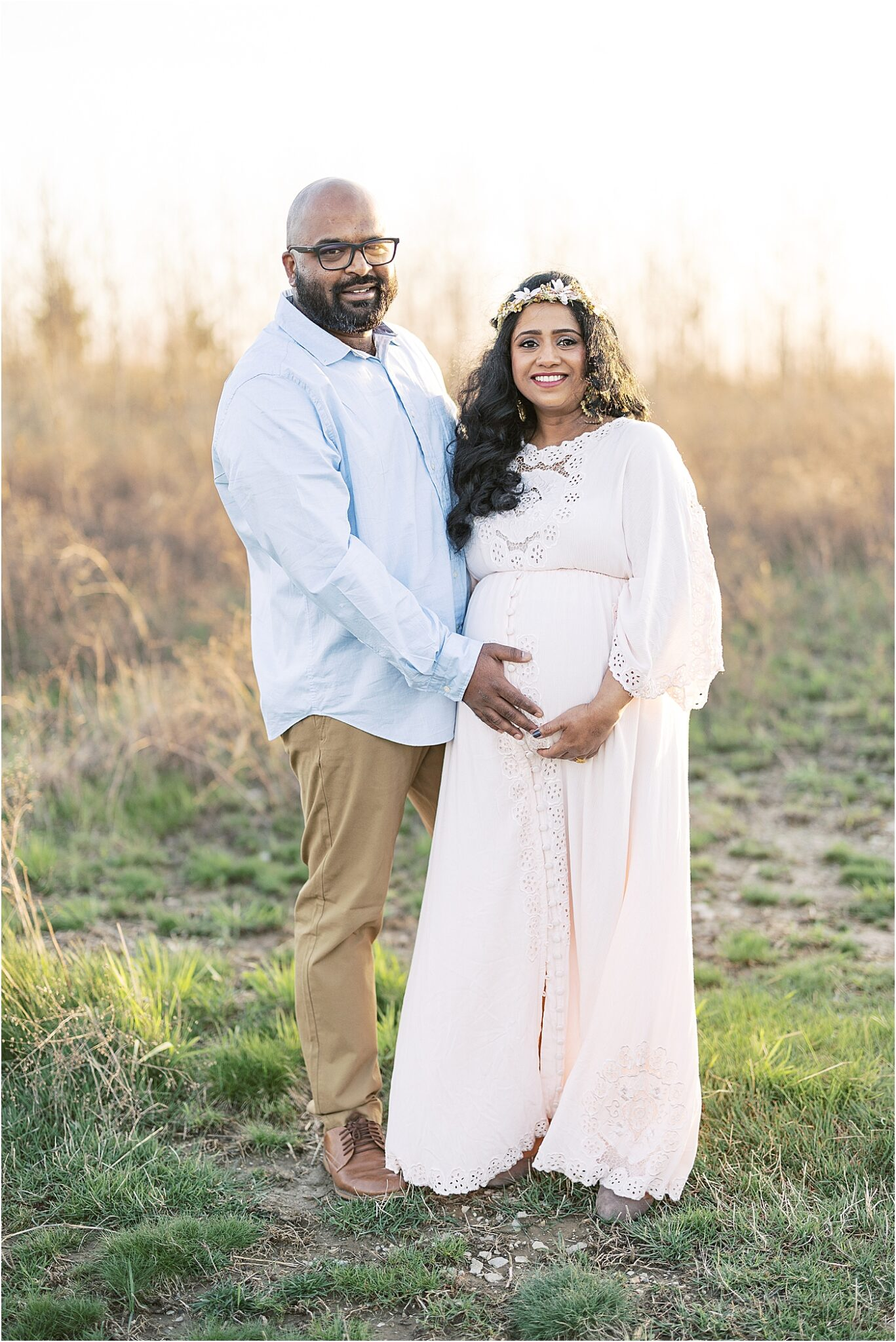 Parents to be during maternity photos with Lindsay Konopa Photography in Fishers Indiana.